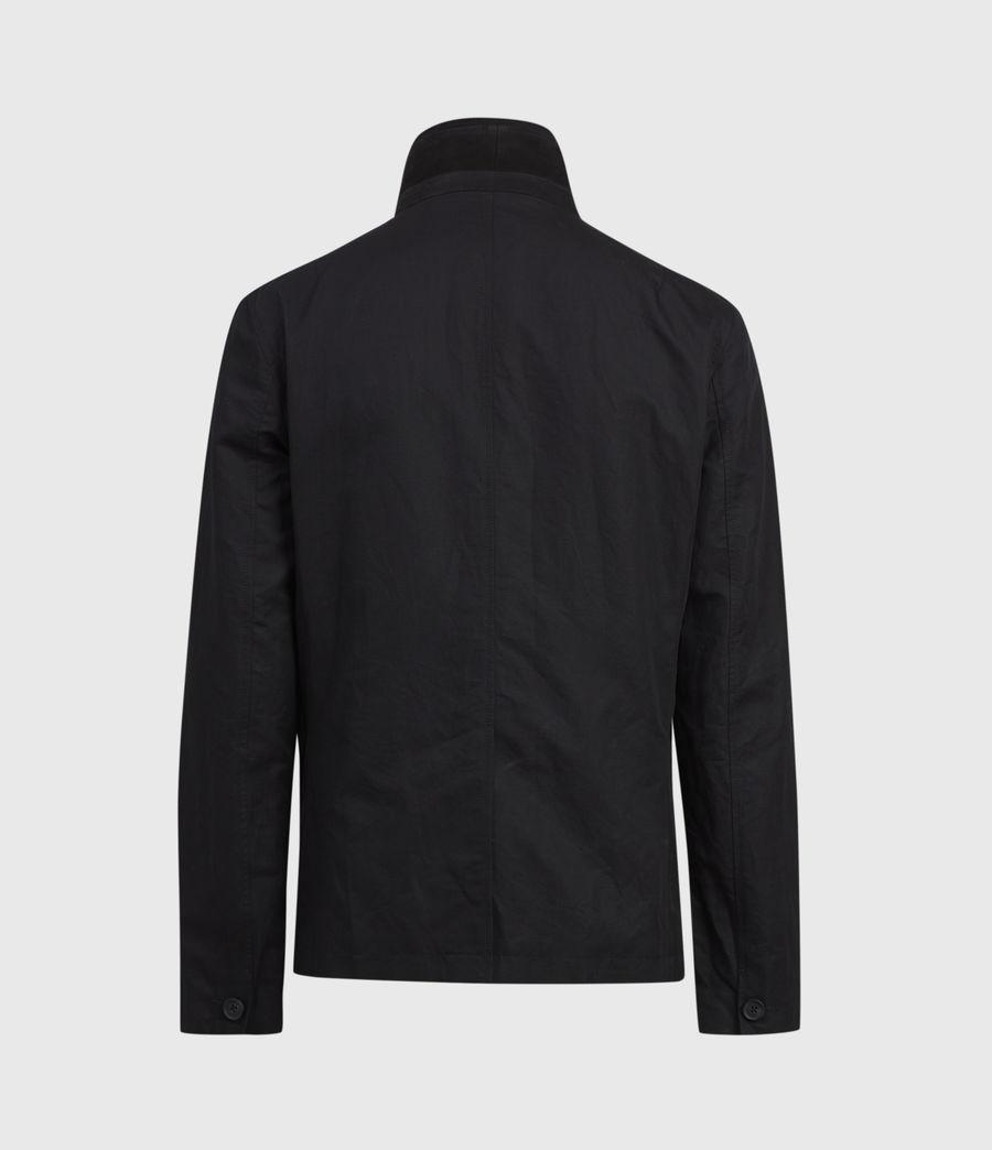 Mens Dunn Linen Blend Blazer (black) - Image 5