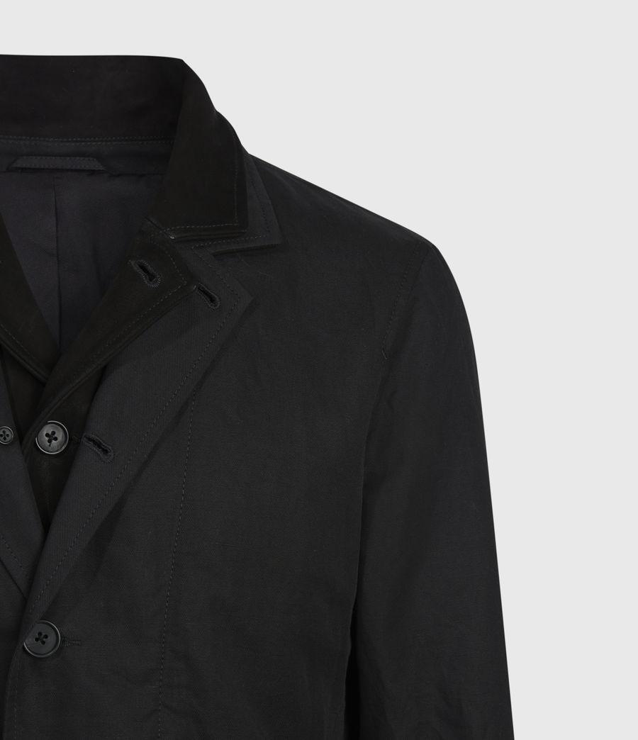 Mens Dunn Linen Blend Blazer (black) - Image 6