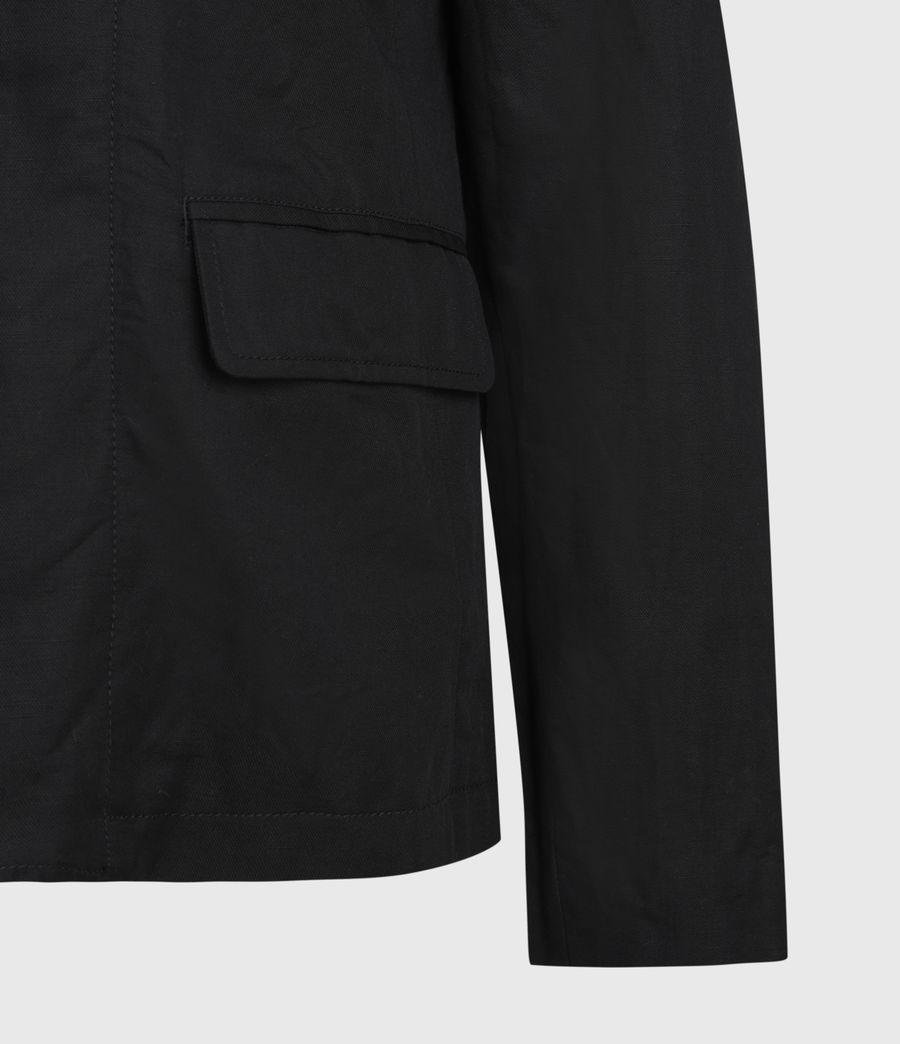 Mens Dunn Linen Blend Blazer (black) - Image 7