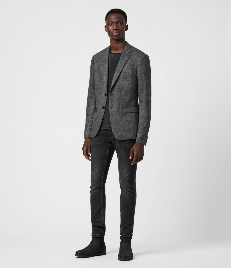 Men's Matos Wool Blend Blazer (grey_camo) - Image 4