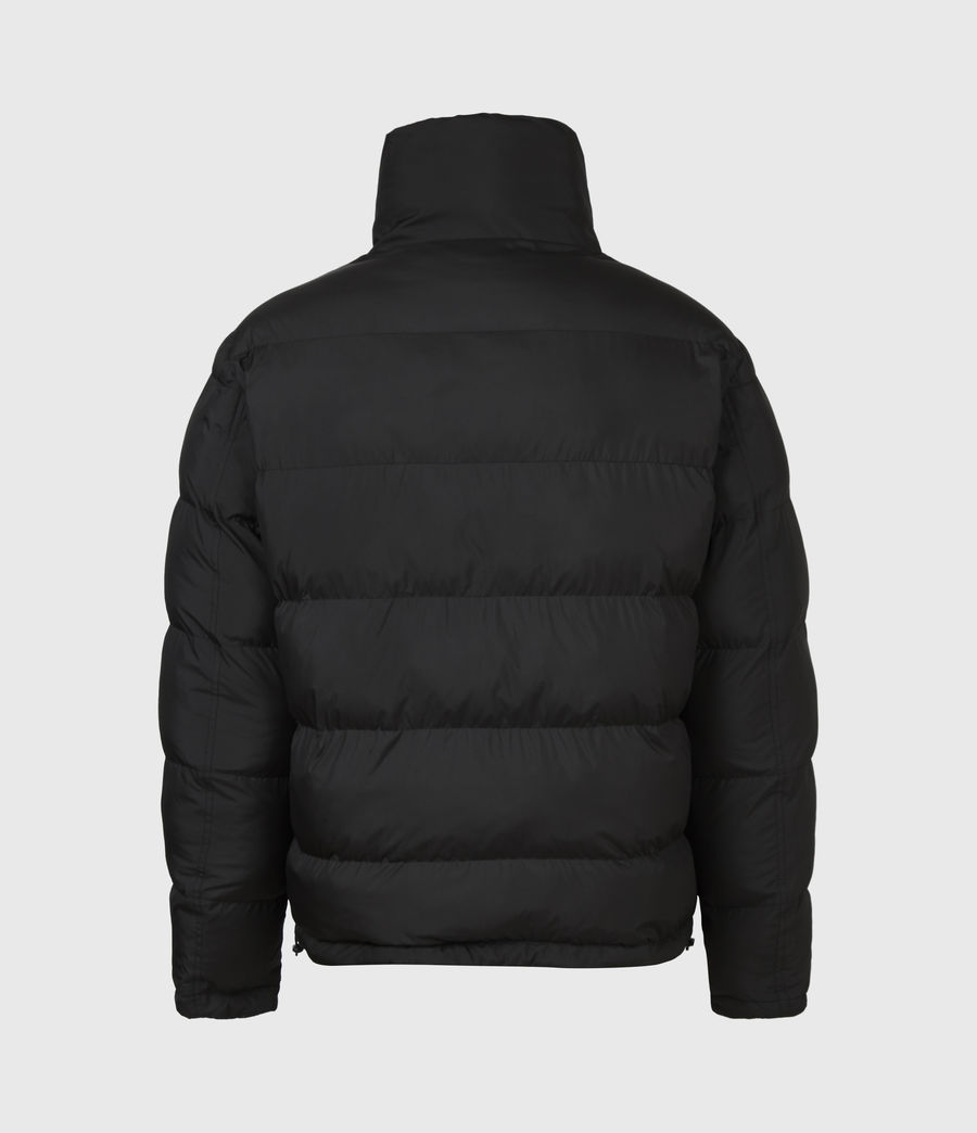 Men's Novem Reversible Puffer Coat (optic_white_black) - Image 11