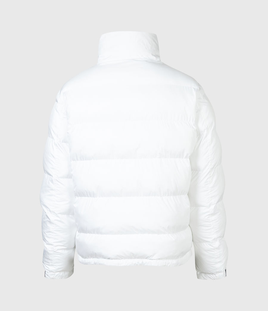 Men's Novem Reversible Puffer Coat (optic_white_black) - Image 12