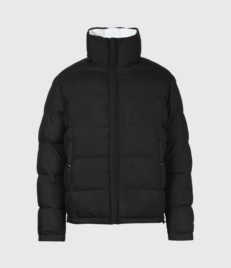 Men's Novem Reversible Puffer Coat (optic_white_black) - Image 2