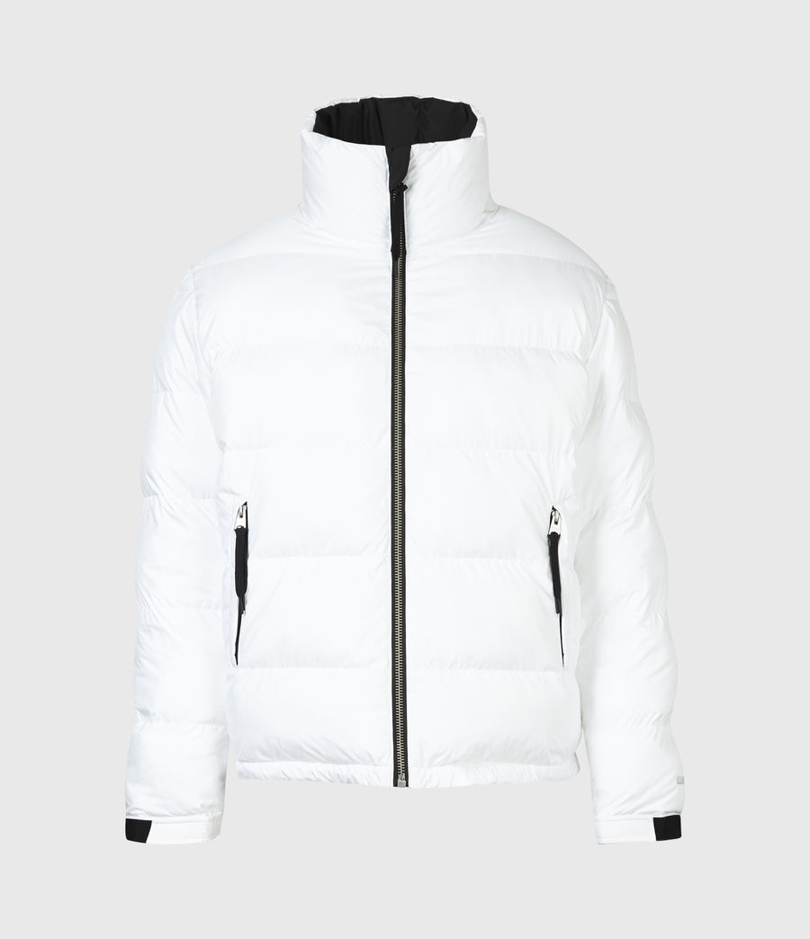 Men's Novem Reversible Puffer Coat (optic_white_black) - Image 3