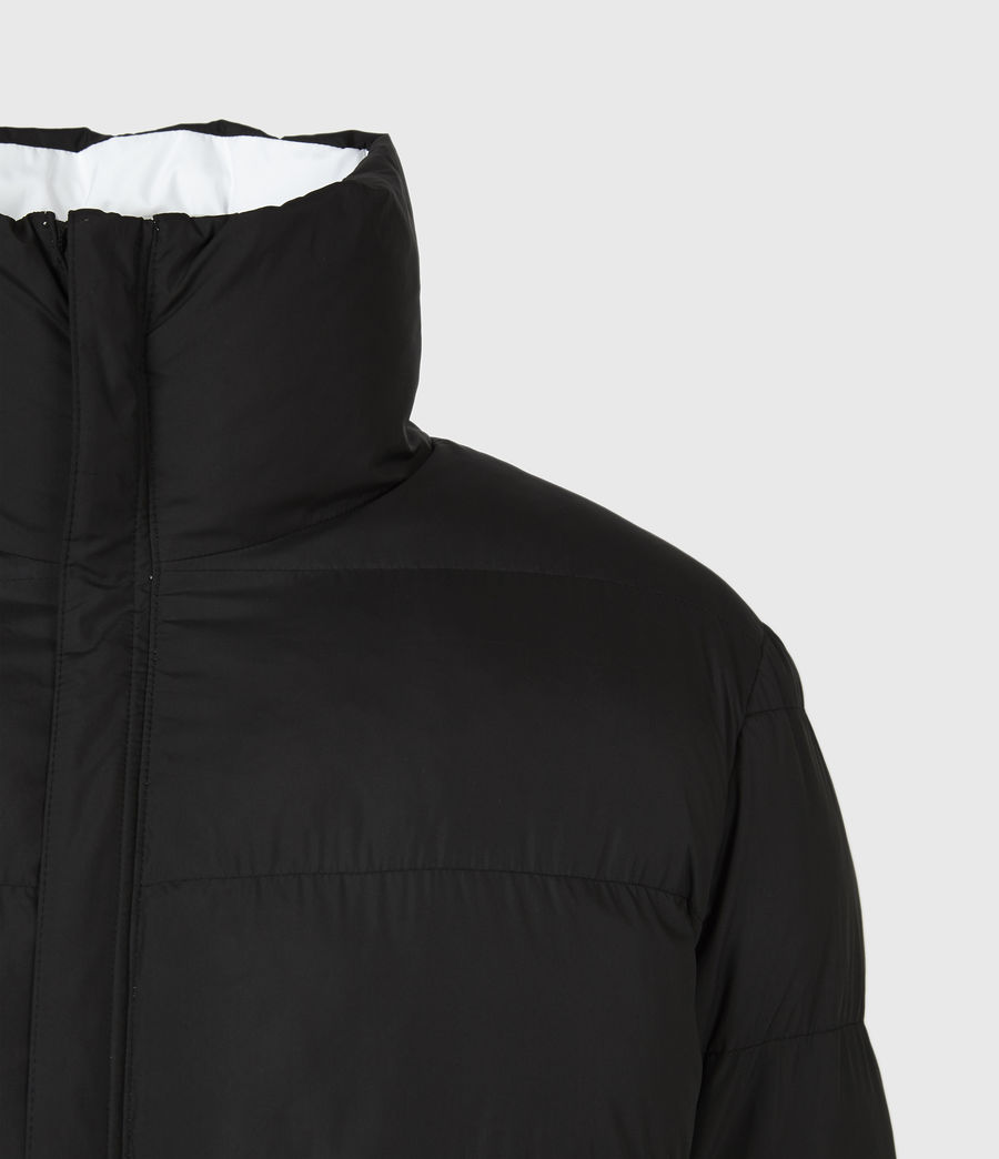Men's Novem Reversible Puffer Coat (optic_white_black) - Image 5
