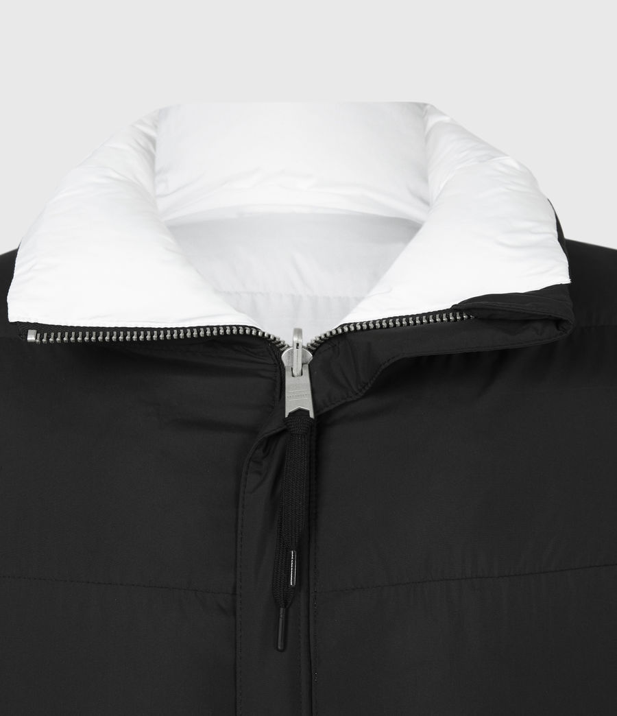Men's Novem Reversible Puffer Coat (optic_white_black) - Image 6