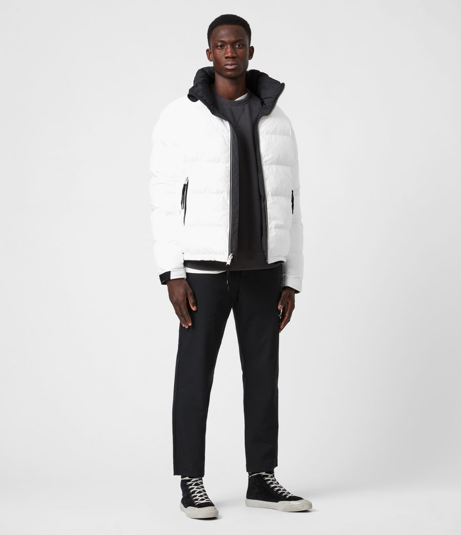 Men's Novem Reversible Puffer Coat (optic_white_black) - Image 7