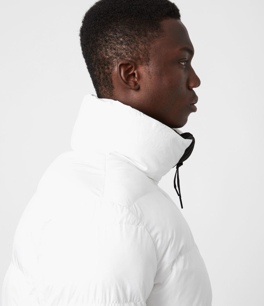 Men's Novem Reversible Puffer Coat (optic_white_black) - Image 8