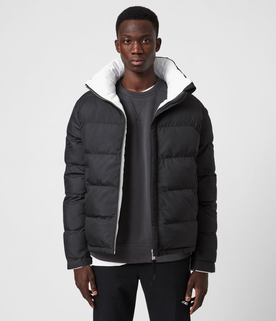 Men's Novem Reversible Puffer Coat (optic_white_black) - Image 9
