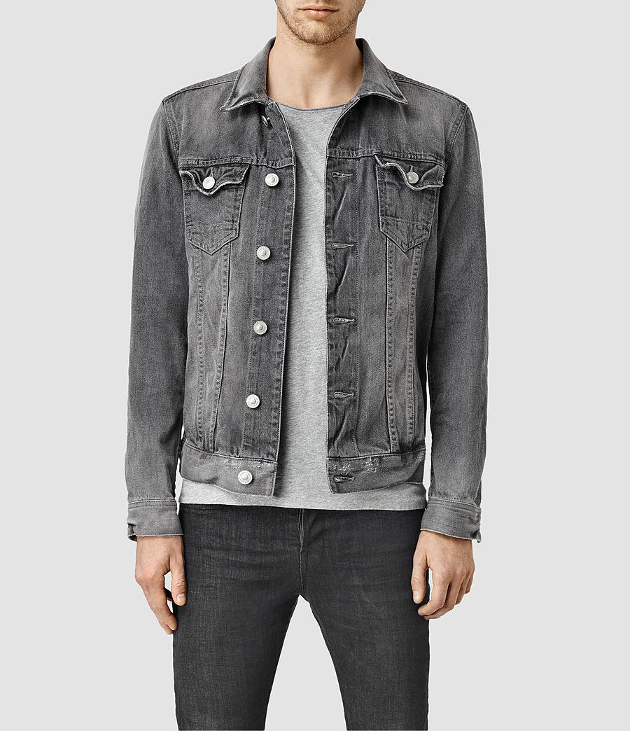 Grey Denim Jacket Mens - JacketIn