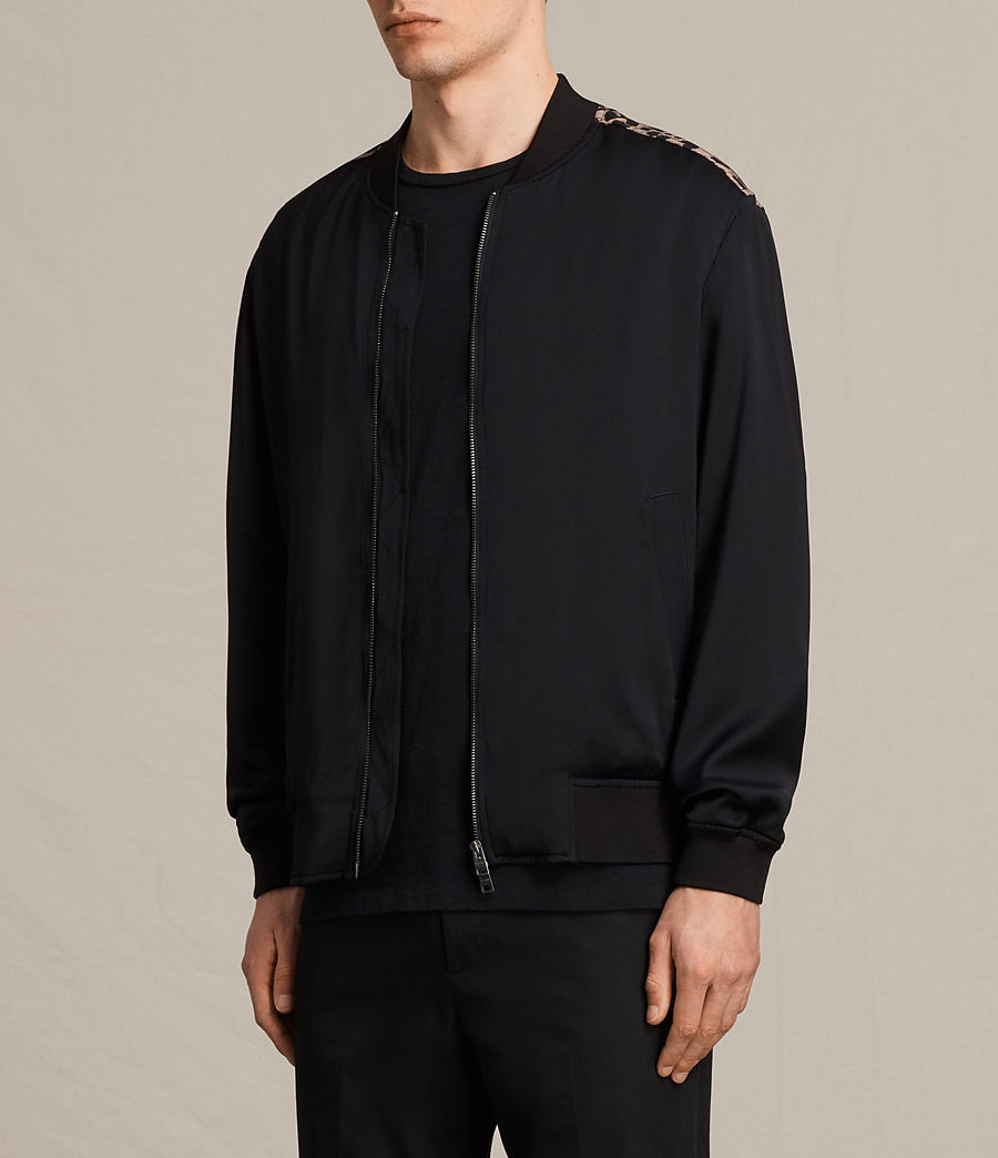 Men's Moy Bomber Jacket (black) - Image 4