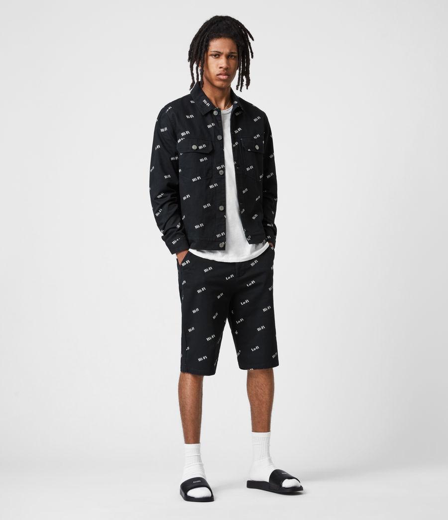 Men's Senta Denim Jacket (black_white) - Image 1