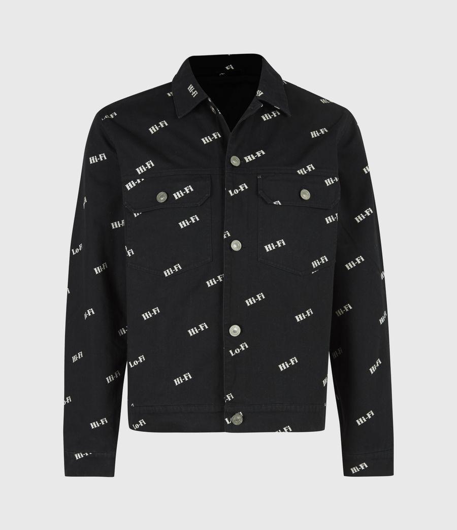 Men's Senta Denim Jacket (black_white) - Image 2