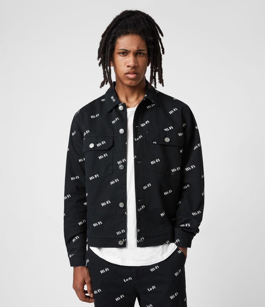 Men's Senta Denim Jacket (black_white) - Image 4