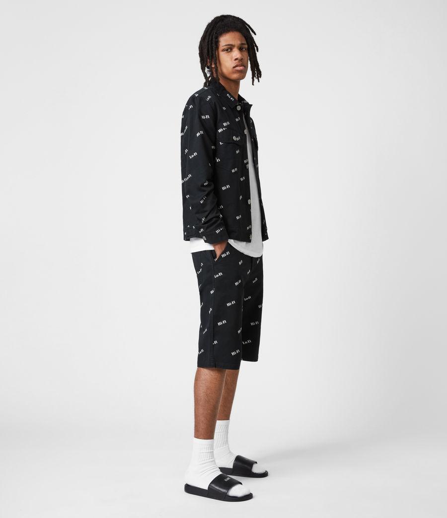Men's Senta Denim Jacket (black_white) - Image 7