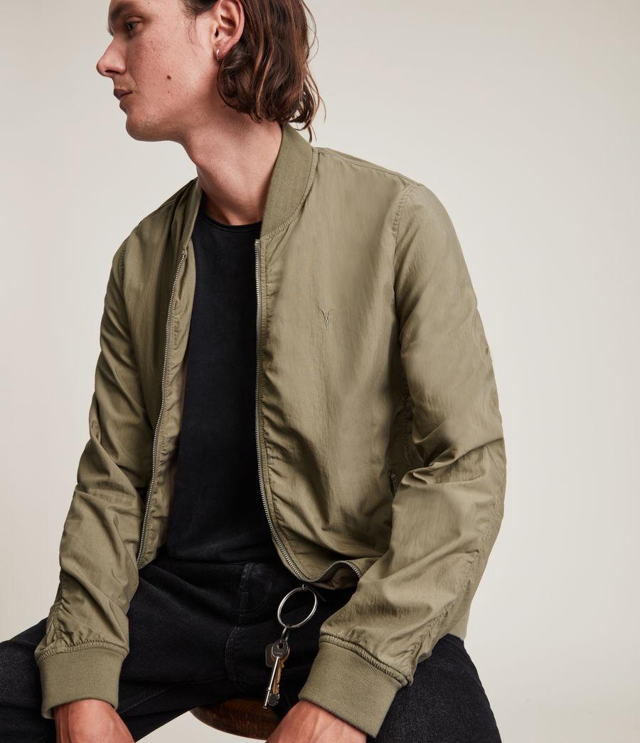 Herren Bassett Bomber Jacket (dusty_olive_green) - Image 2