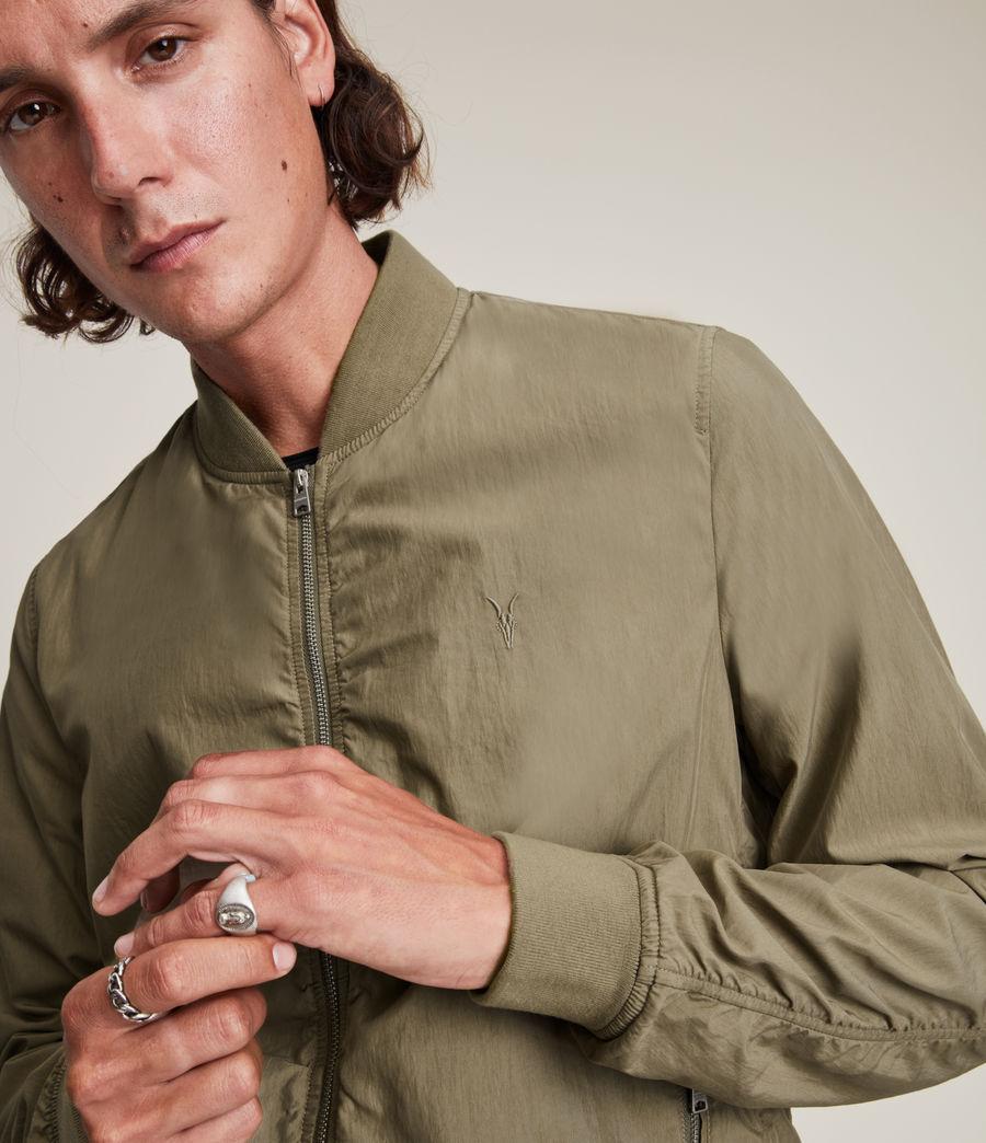 Herren Bassett Bomber Jacket (dusty_olive_green) - Image 3