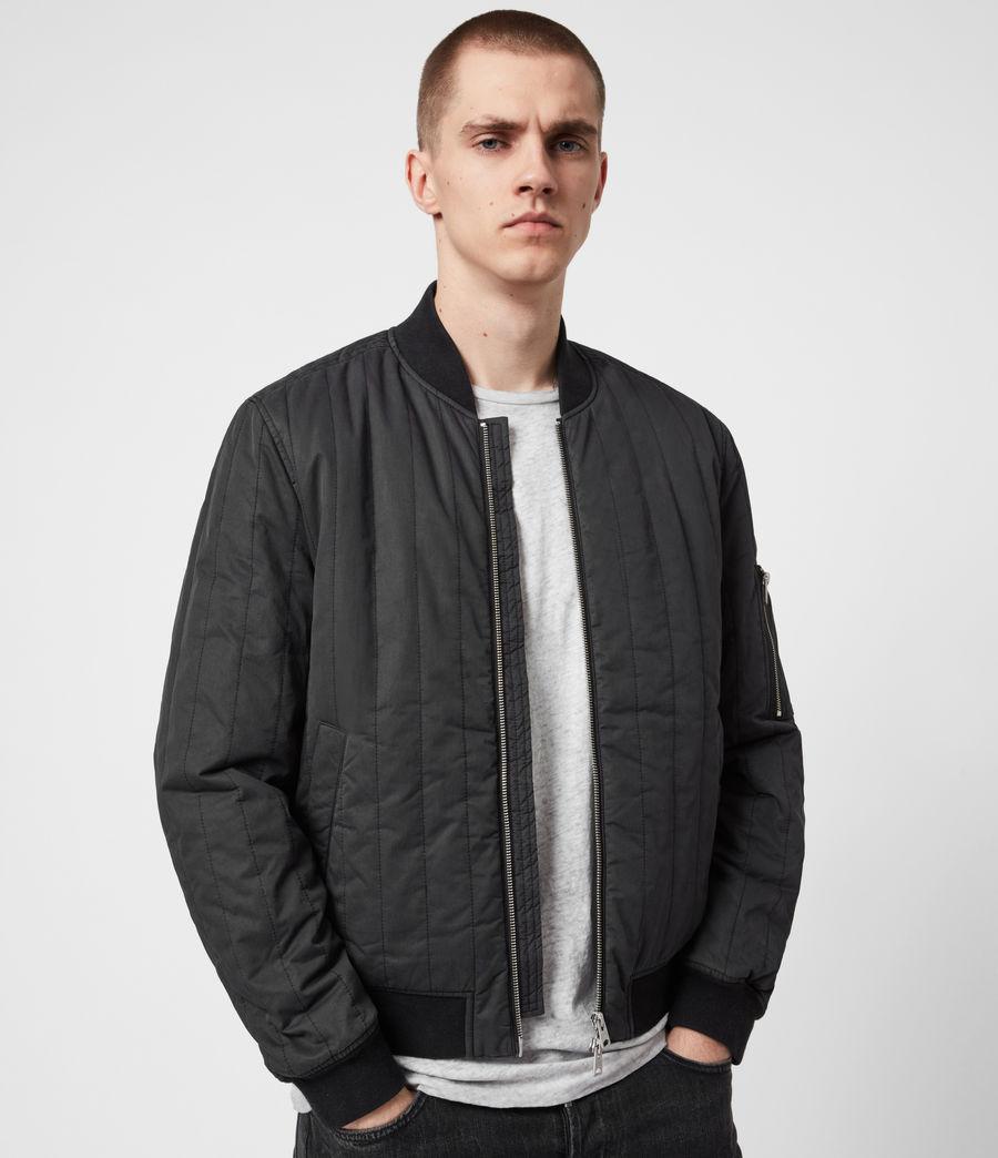 Mens Drake Bomber Jacket (black) - Image 1