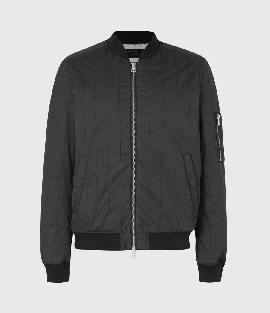 Mens Drake Bomber Jacket (black) - Image 2