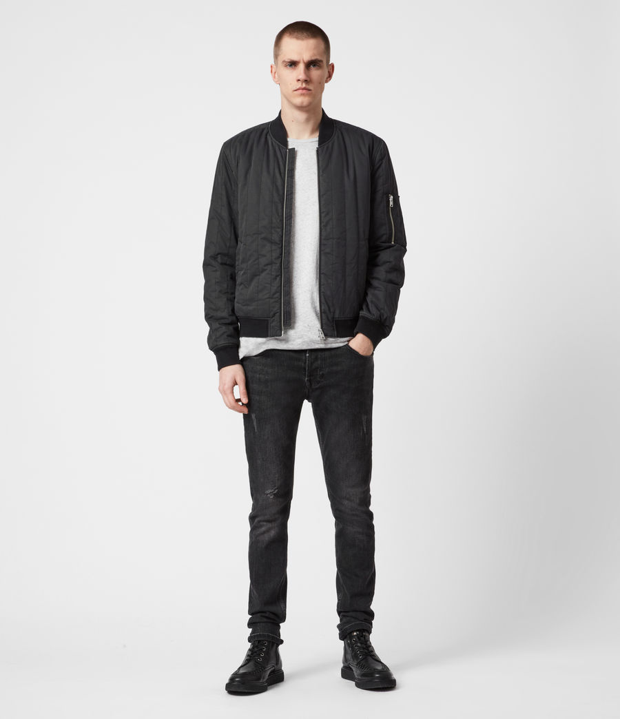 Mens Drake Bomber Jacket (black) - Image 6