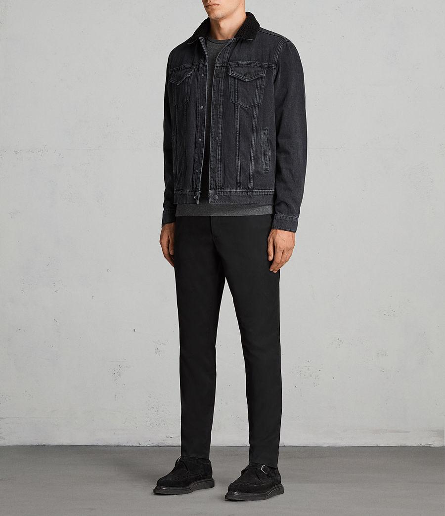 Mens Barred Denim Jacket (black) - Image 3