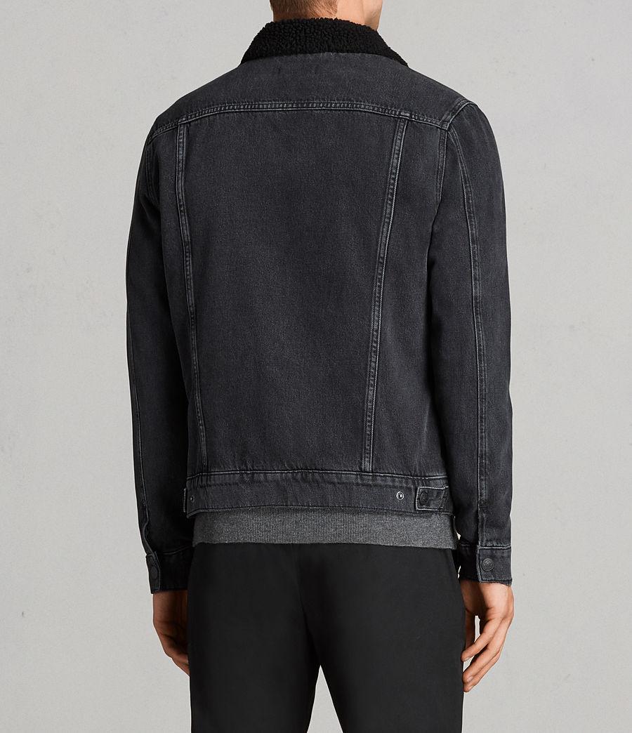 Mens Barred Denim Jacket (black) - Image 5