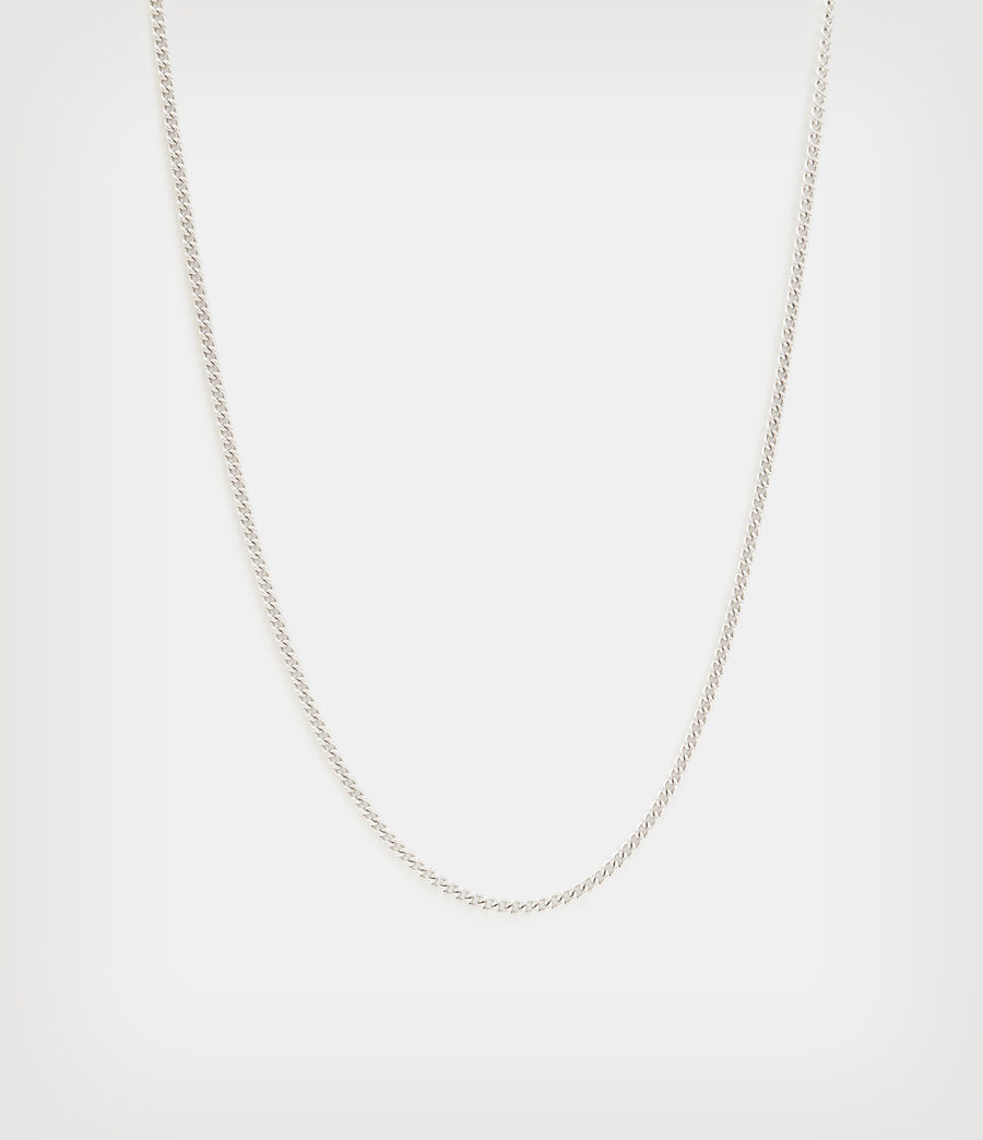 Men's Curb Sterling Silver Chain (warm_silver) - Image 1