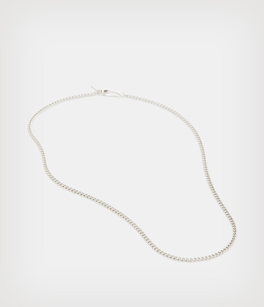 Mens Curb Sterling Silver Chain (warm_silver) - Image 3