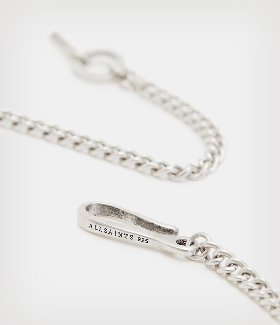 Mens Curb Sterling Silver Chain (warm_silver) - Image 4