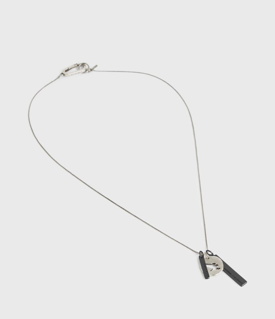 Men's Cut Eagle Pendant Sterling Silver Necklace (warm_silver) - Image 3