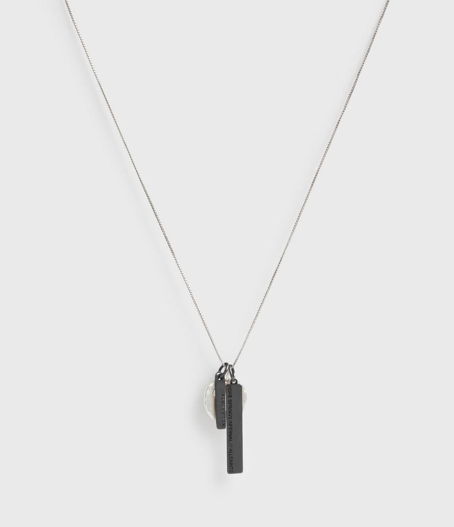 Men's Cut Eagle Pendant Sterling Silver Necklace (warm_silver) - Image 4