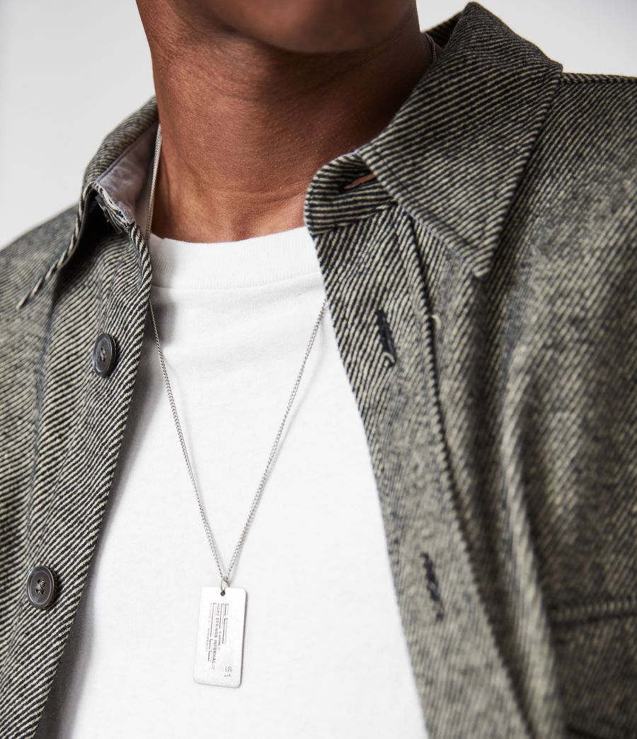 Men's Hope Springs Pendant Sterling Silver Necklace (warm_silver) - Image 2