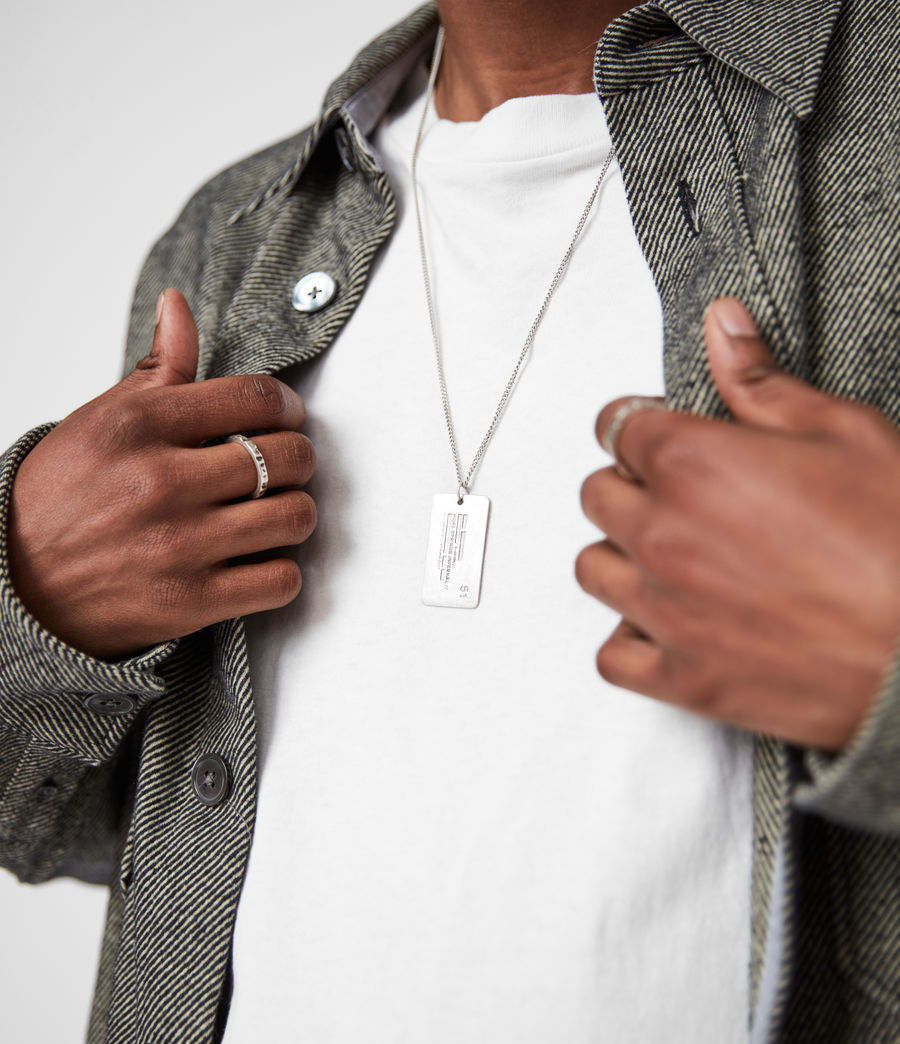 Men's Hope Springs Pendant Sterling Silver Necklace (warm_silver) - Image 4
