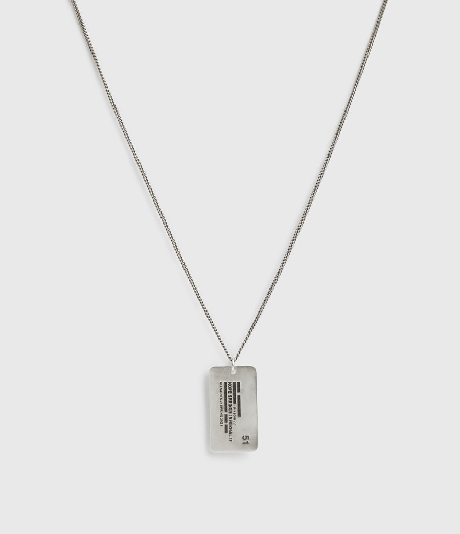Men's Hope Springs Pendant Sterling Silver Necklace (warm_silver) - Image 5