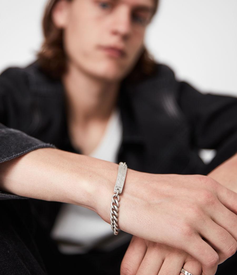 Men's I.D Sterling Silver Chain Bracelet (warm_silver) - Image 2