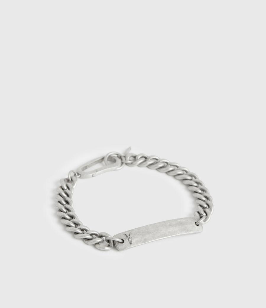 Men's I.D Sterling Silver Chain Bracelet (warm_silver) - Image 3