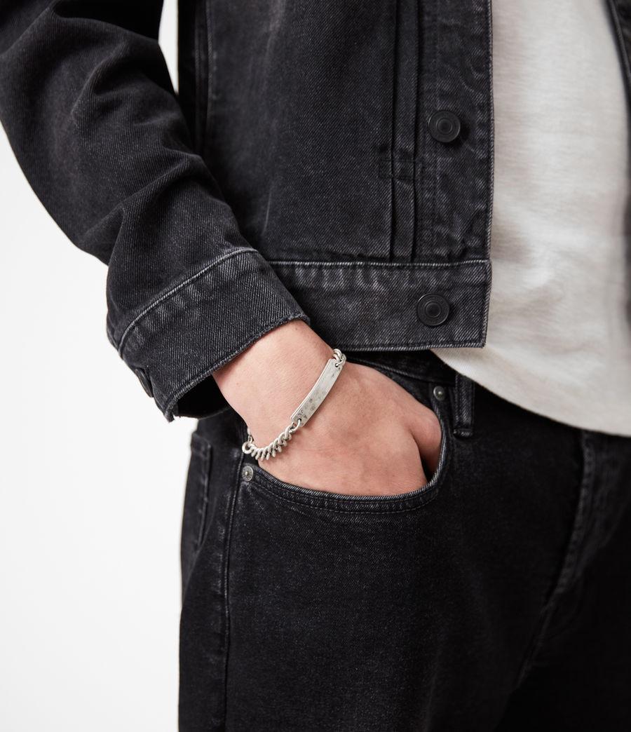 Men's I.D Sterling Silver Chain Bracelet (warm_silver) - Image 4