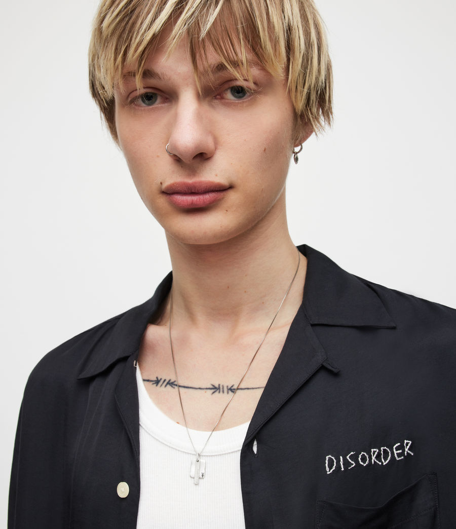Men's Briggs Sterling Silver Necklace (warm_silver) - Image 1