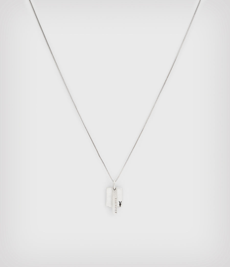Mens Briggs Sterling Silver Necklace (warm_silver) - Image 3