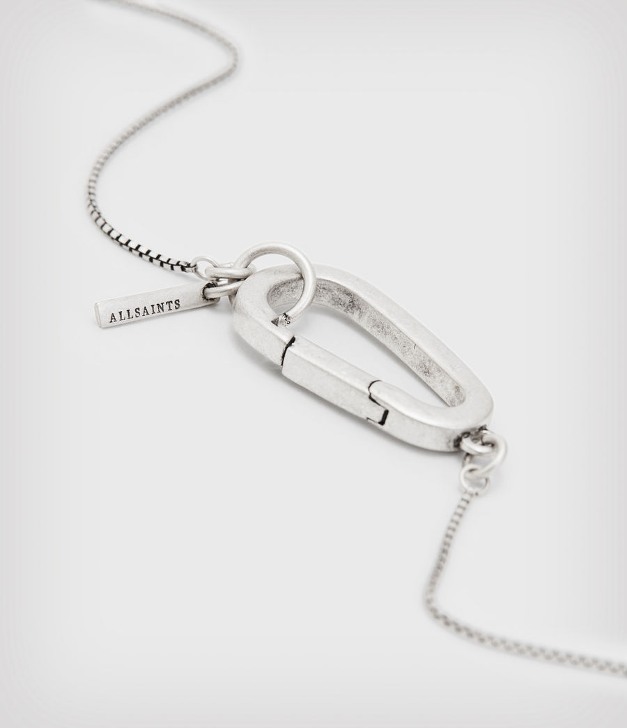 Mens Briggs Sterling Silver Necklace (warm_silver) - Image 5