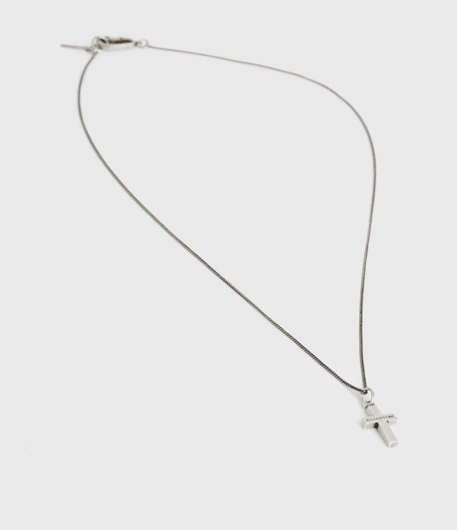 Men's Croix Sterling Silver Necklace (warm_silver) - Image 3