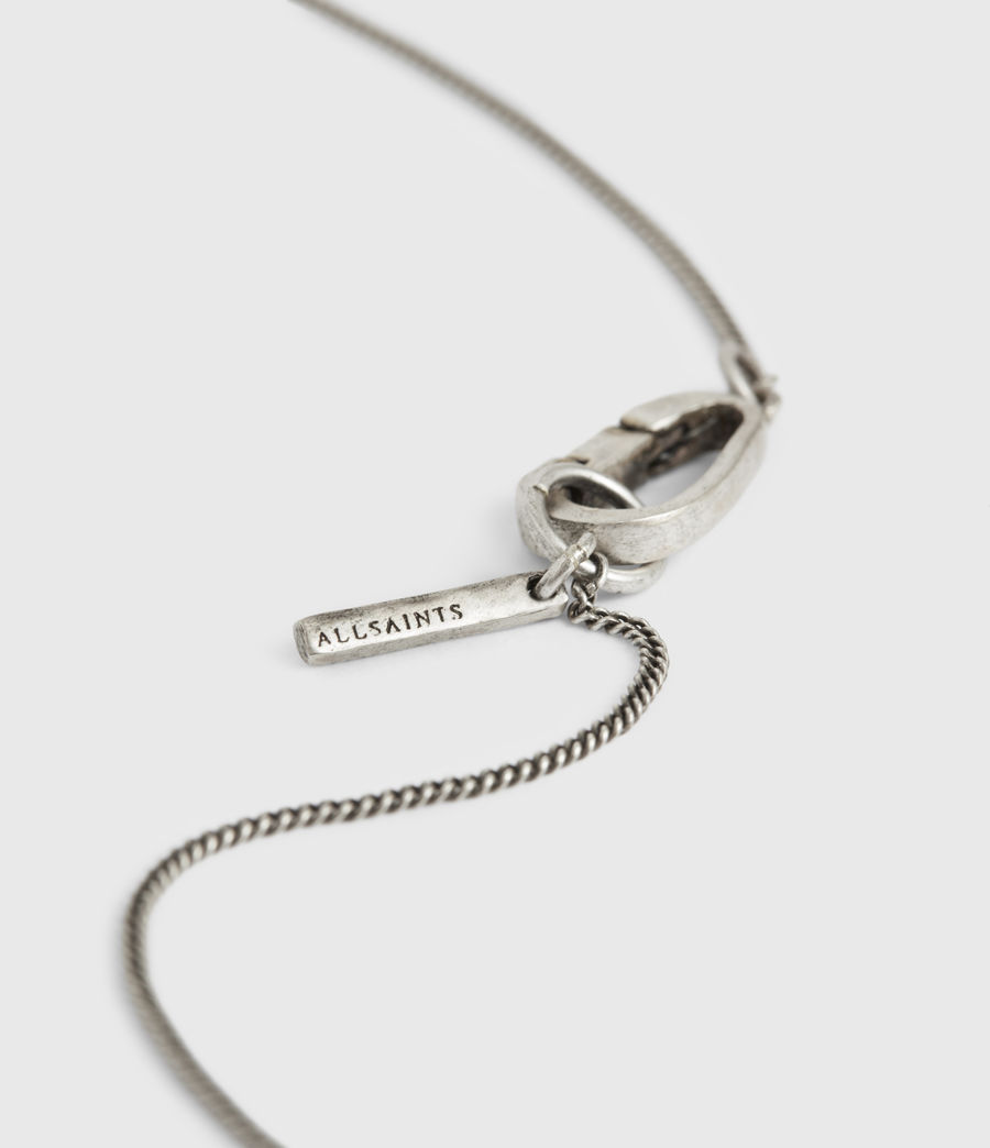 Men's Croix Sterling Silver Necklace (warm_silver) - Image 5