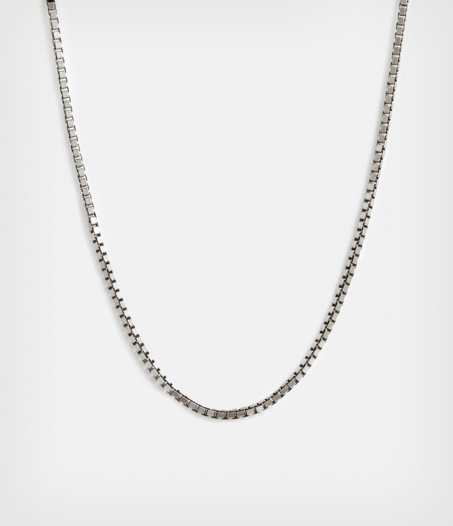 Mens Roan Sterling Silver Chain Necklace (warm_silver) - Image 1