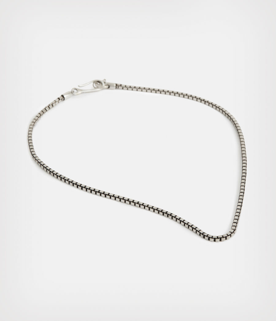 Men's Roan Sterling Silver Chain Necklace (warm_silver) - Image 4