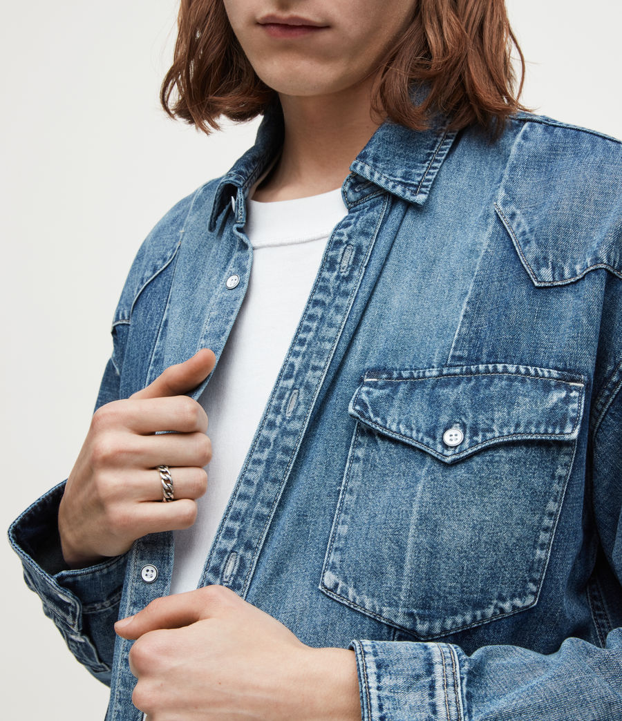 Mens Francis Sterling Silver Ring (warm_silver) - Image 2
