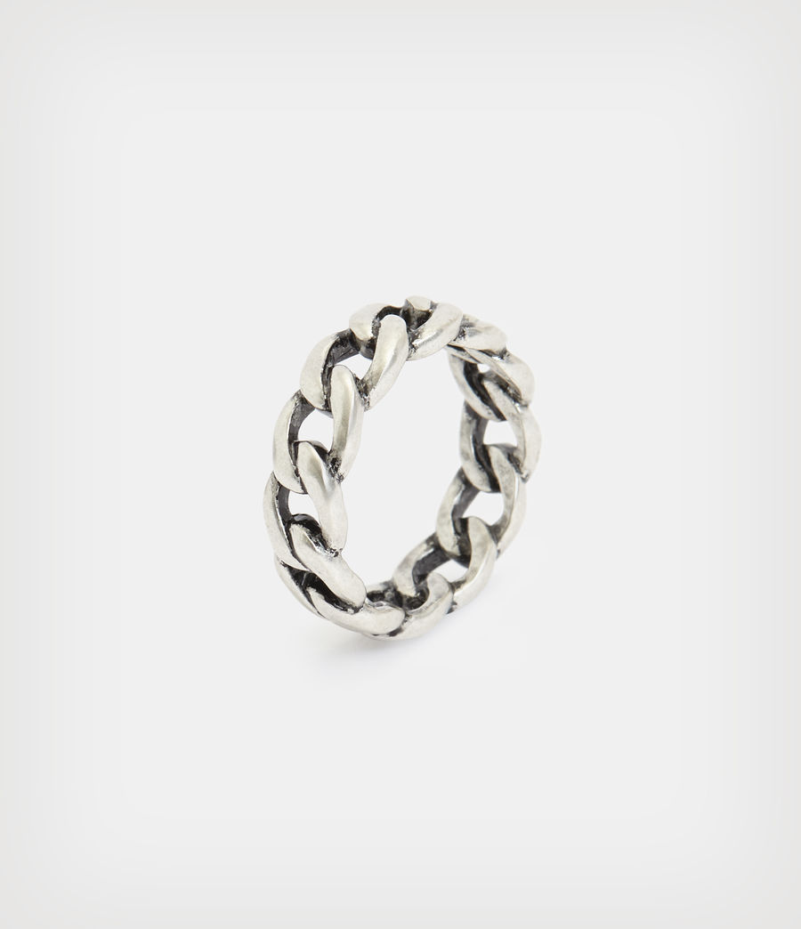 Mens Francis Sterling Silver Ring (warm_silver) - Image 3