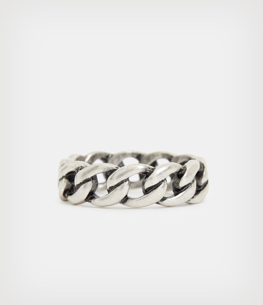 Mens Francis Sterling Silver Ring (warm_silver) - Image 4