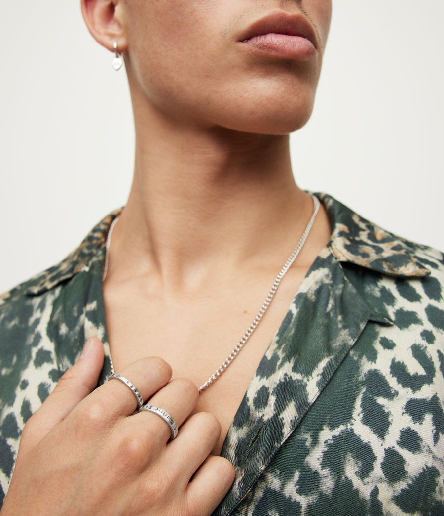 Men's Josh Sterling Silver Ring Set (warm_silver) - Image 2