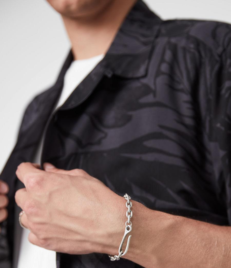 Men's Flex Sterling Silver Bracelet (warm_silver) - Image 2