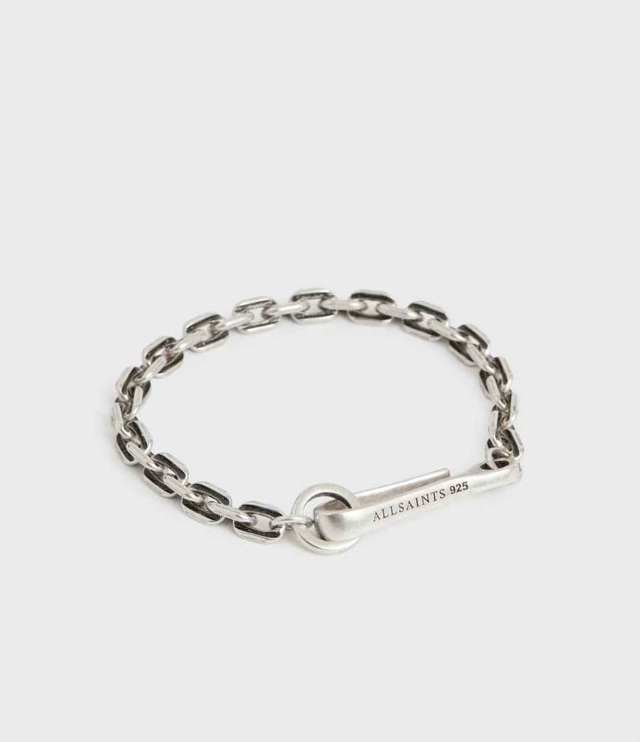 Men's Flex Sterling Silver Bracelet (warm_silver) - Image 3